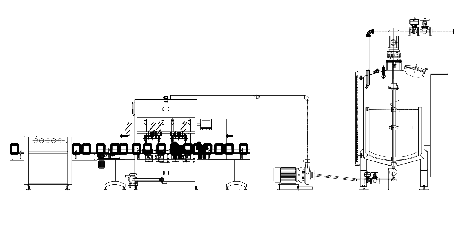 Liquid Fluid Fertilizer Filling Machine